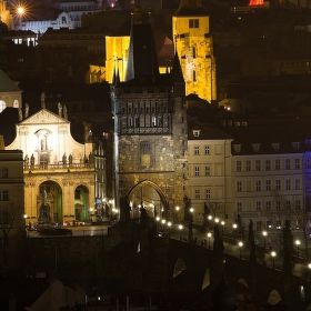 Pohled na Karlův most z Pražského hradu