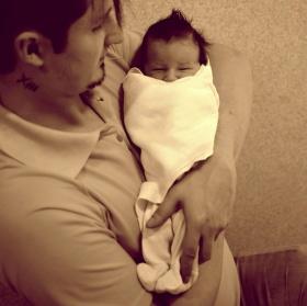 poprvé u otce