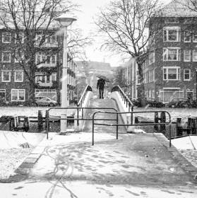 Sníh v Amsterdamu