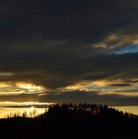 Západ slunce nad Hůrkou