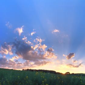 Západ slunce u svaté Otýlie