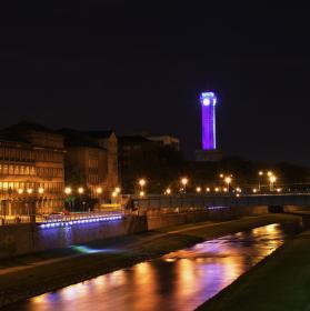 Noční Ostravská věž