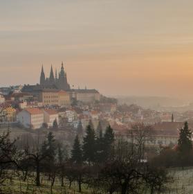 Zimní ráno v Praze