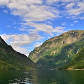 Pohled na norské fjordy