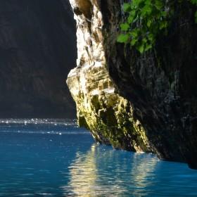 východ z jeskyně...