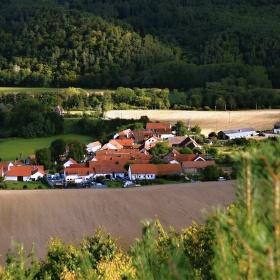 Pohled z Bačkovce