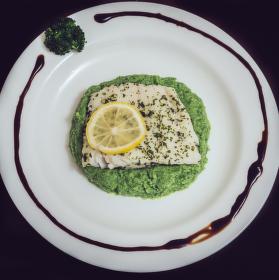 Treska s brokolicovým krémem