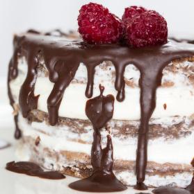 Čokoládový dortík s tvarohem