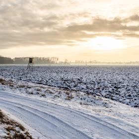 Zimní západ na Podluží