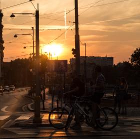 Západ slunce ve Wroclawi