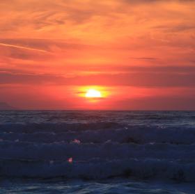 západ slunce na Korfu