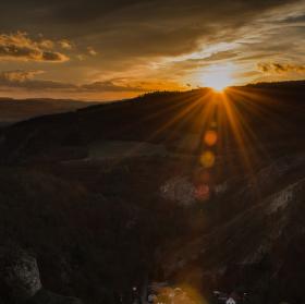 Západ Slunce nad Svatým Janem