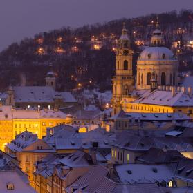 Kouzlo bílé Prahy