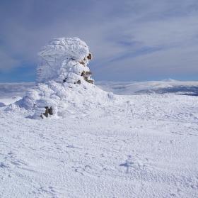 Vysoké kolo v zimě