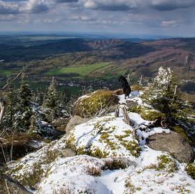 Pohled z Poledních kamenů (Jizerské hory)