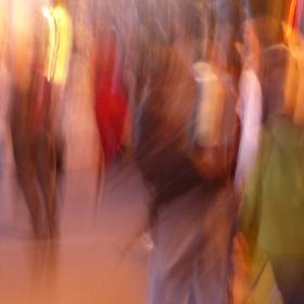 barevný dav