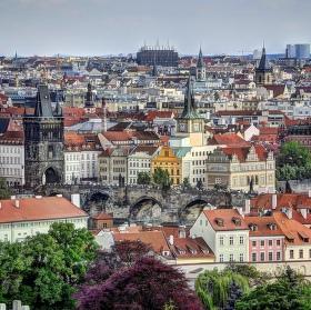 Turistou v Práglu.