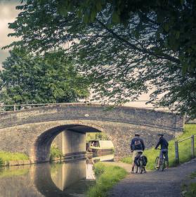 Trip podél Shropshire Union Canal, hrabství Cheshire, UK