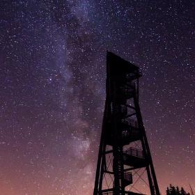 Mléčná dráha nad Hnědým vrchem