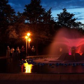 Zpívající fontána ve v Mariánských Lázních