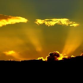 Posledné slnečné lúče.