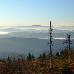 Podzimní ráno na Lysé hoře