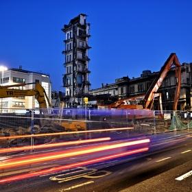 Construction site in Bristol City