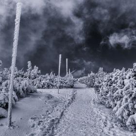 Krkonoše v zimním kabátku