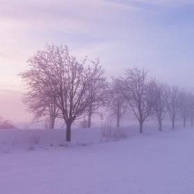 Když mrazí a západ slunce barví :)