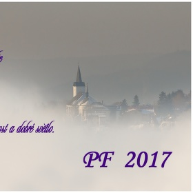 PF 2017-kostelík v Příchovicích.
