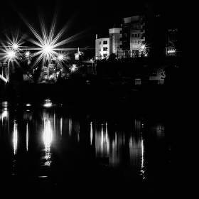 hvězdy pouličních lamp