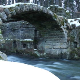 Most přes Bobří potok.