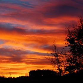 Novoroční východ slunce