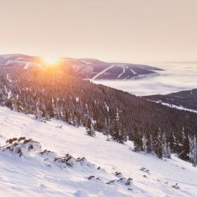 Krkonošský východ Slunce