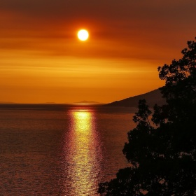 Západ slunce v Brele