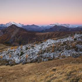 svítání nad Monte Pore