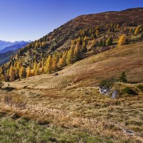 začátek podzimu v Dolomitech