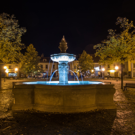 Uherské Hradiště, Mariánské náměstí, kašna