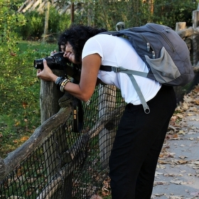 Exotická fotografka v Zoo.