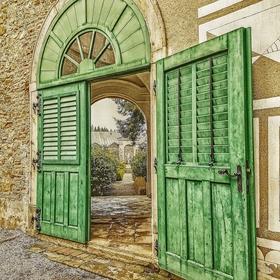 Dveře do zahrady