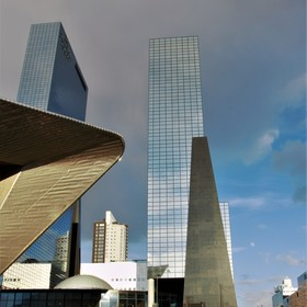 Moderní stavby.