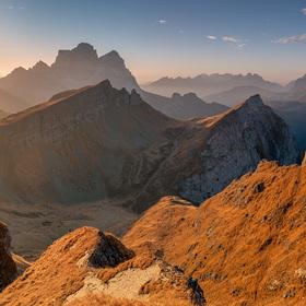 Ráno v Dolomitech