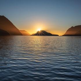 Sunset on Tasman sea