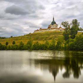 Zelená hora - poutní kostel sv. Jana Napomuckého