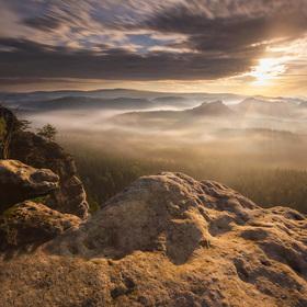 Ráno na Kleine Winterberg
