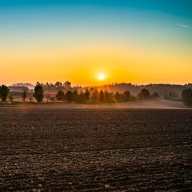 Podzimní svítání na Vysočině