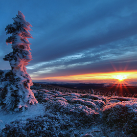Východ slunce ne Břidličné hoře