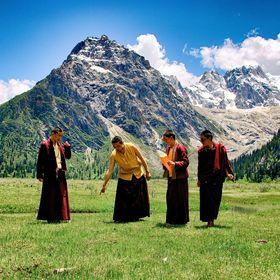 Buddhističtí mniši v Tibetu