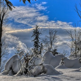 zimní Velké Karlovice