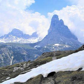 Pohled z Monte Piana na Cima Grande